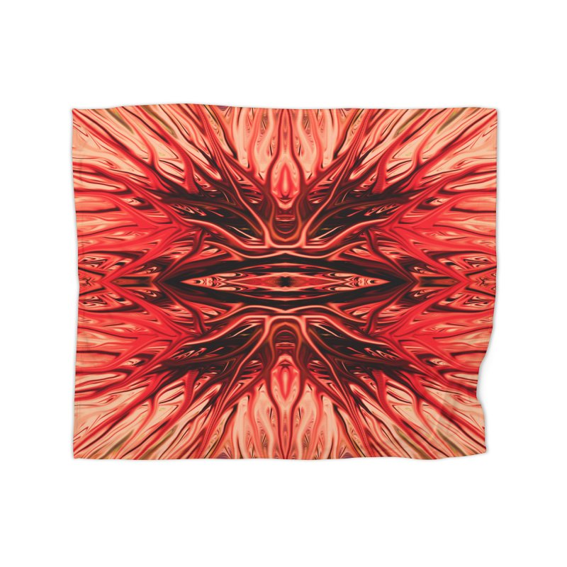 Strawberry Firethorn I by Chris Sparks Home Fleece Blanket Blanket by Chris Sparks' Abstract Art Shop