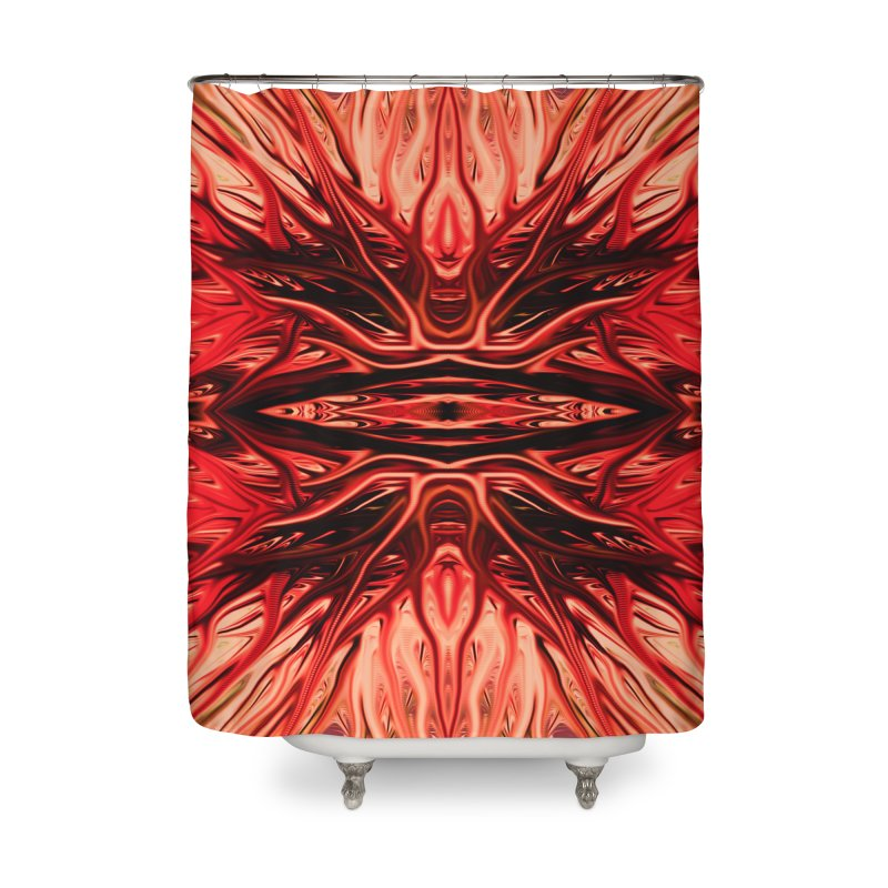Strawberry Firethorn I by Chris Sparks Home Shower Curtain by Chris Sparks' Abstract Art Shop