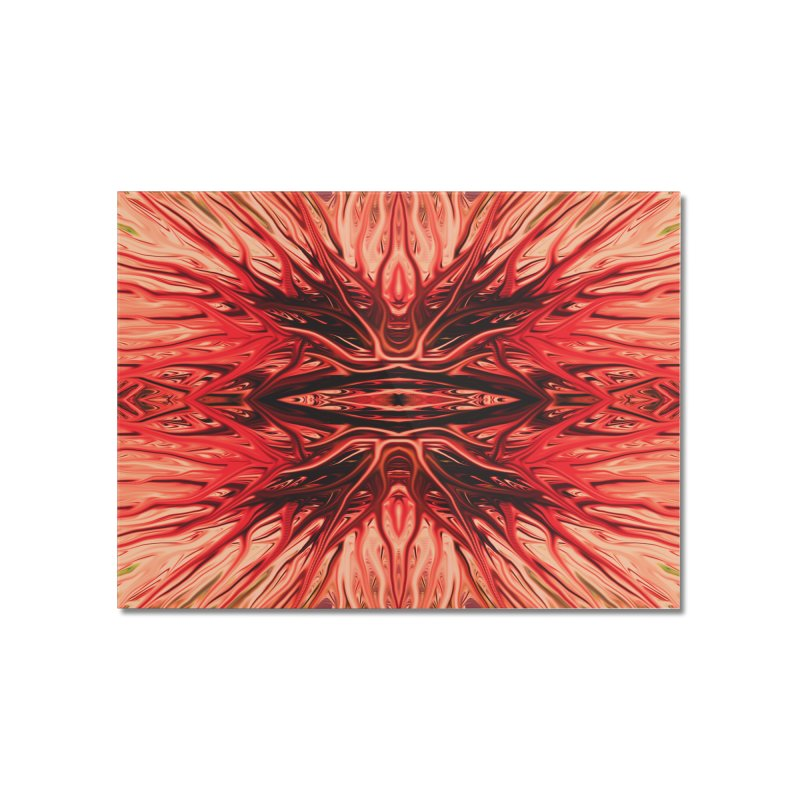 Strawberry Firethorn I by Chris Sparks Home Mounted Acrylic Print by Chris Sparks' Abstract Art Shop
