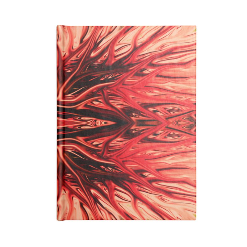 Strawberry Firethorn I by Chris Sparks Accessories Notebook by Chris Sparks' Abstract Art Shop