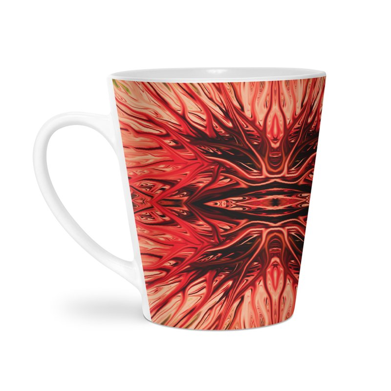 Strawberry Firethorn I by Chris Sparks Accessories Latte Mug by Chris Sparks' Abstract Art Shop