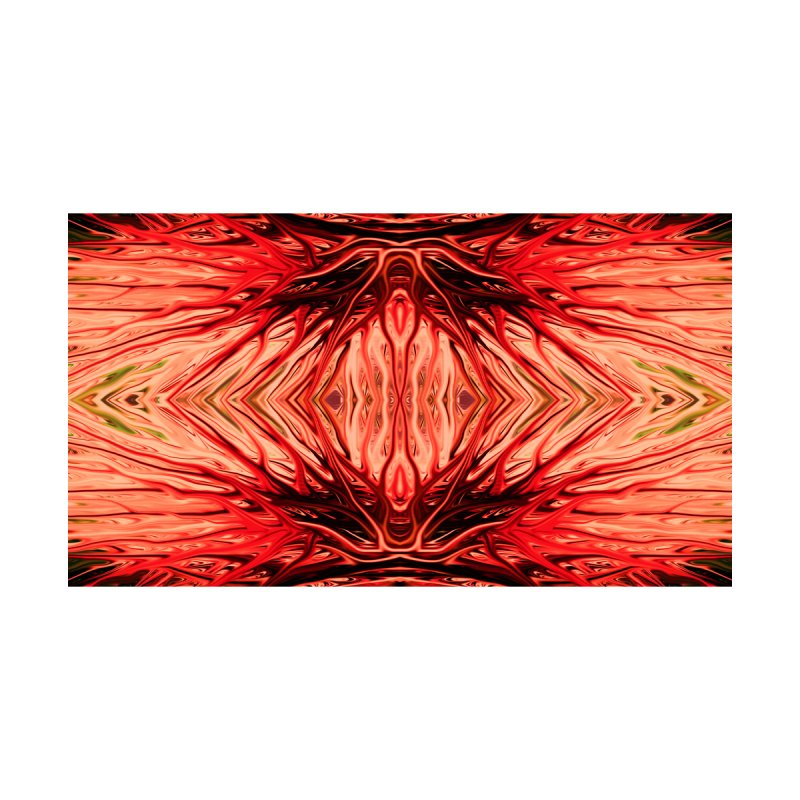 Strawberry Firethorn II by Chris Sparks Home Rug by Chris Sparks' Abstract Art Shop