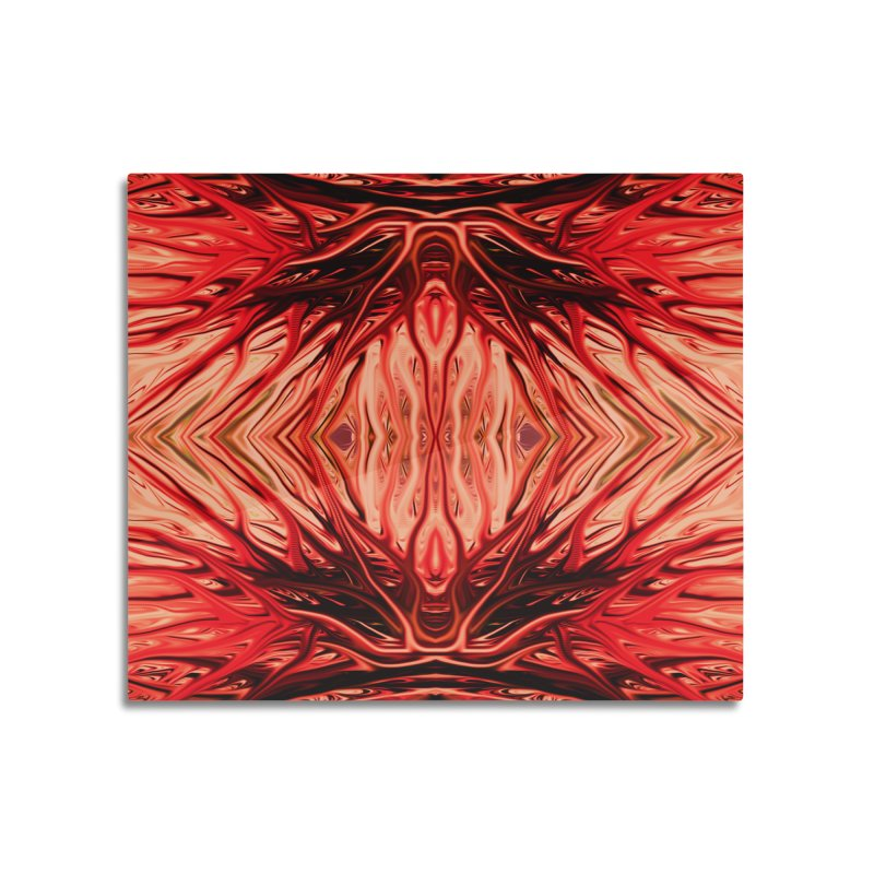 Strawberry Firethorn II by Chris Sparks Home Mounted Aluminum Print by Chris Sparks' Abstract Art Shop