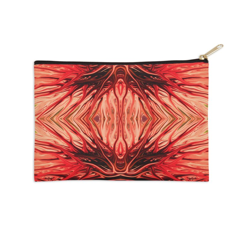Strawberry Firethorn II by Chris Sparks Accessories Zip Pouch by Chris Sparks' Abstract Art Shop