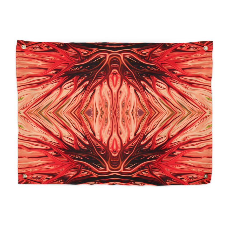 Strawberry Firethorn II by Chris Sparks Home Tapestry by Chris Sparks' Abstract Art Shop