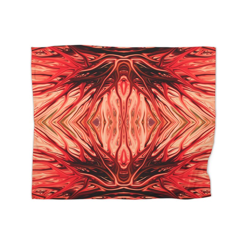 Strawberry Firethorn II by Chris Sparks Home Blanket by Chris Sparks' Abstract Art Shop