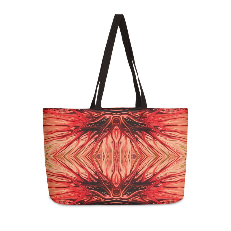 Strawberry Firethorn II by Chris Sparks Accessories Weekender Bag Bag by Chris Sparks' Abstract Art Shop