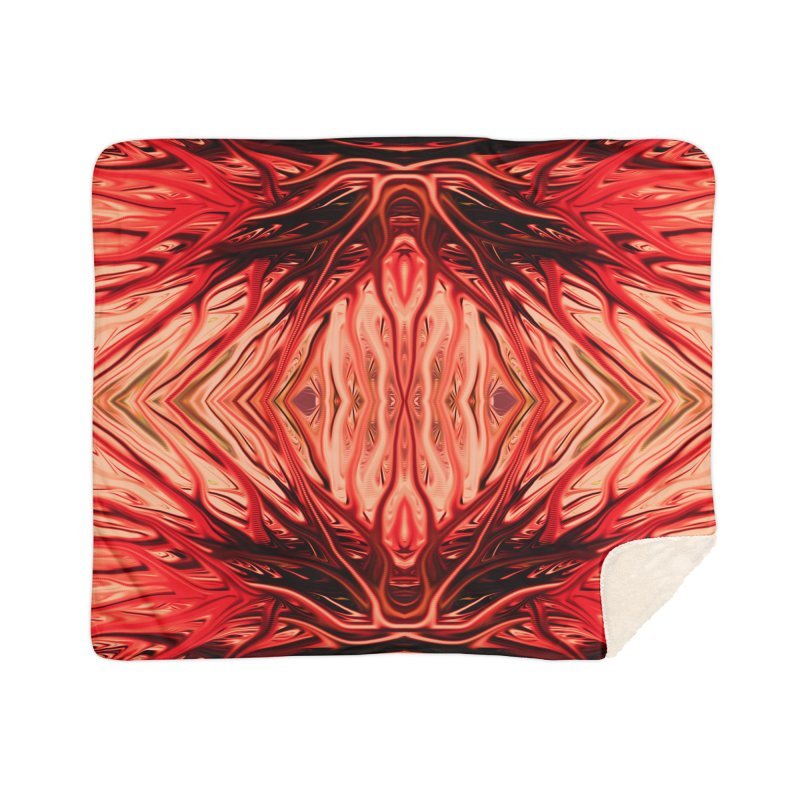 Strawberry Firethorn II by Chris Sparks Home Sherpa Blanket Blanket by Chris Sparks' Abstract Art Shop