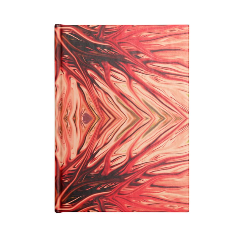 Strawberry Firethorn II by Chris Sparks Accessories Lined Journal Notebook by Chris Sparks' Abstract Art Shop