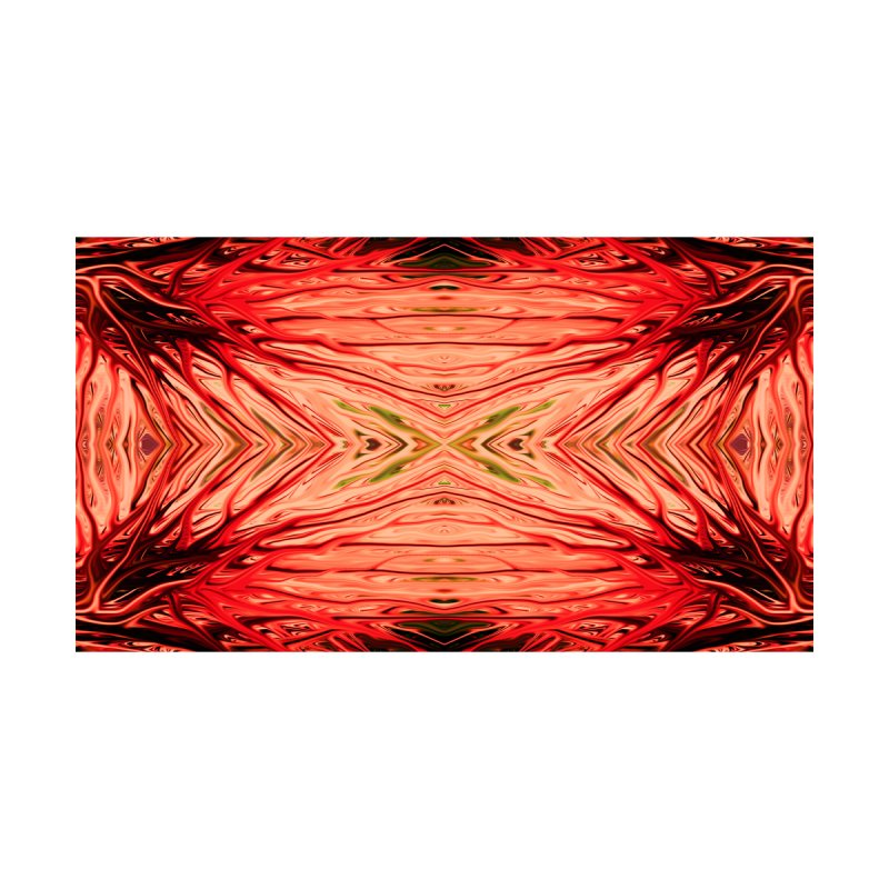 Strawberry Firethorn III by Chris Sparks Home Blanket by Chris Sparks' Abstract Art Shop