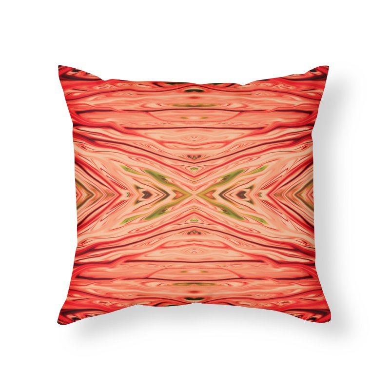 Strawberry Firethorn III by Chris Sparks Home Throw Pillow by Chris Sparks' Abstract Art Shop