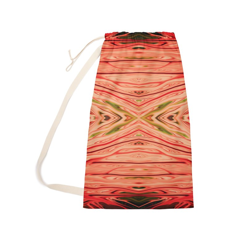 Strawberry Firethorn III by Chris Sparks Accessories Laundry Bag Bag by Chris Sparks' Abstract Art Shop
