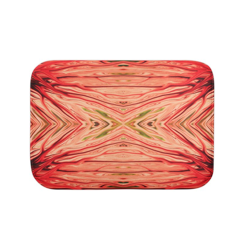 Strawberry Firethorn III by Chris Sparks Home Bath Mat by Chris Sparks' Abstract Art Shop