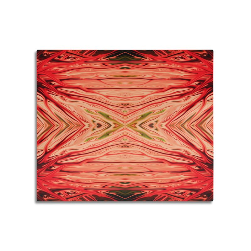 Strawberry Firethorn III by Chris Sparks Home Mounted Aluminum Print by Chris Sparks' Abstract Art Shop