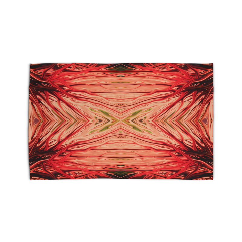 Strawberry Firethorn III by Chris Sparks Home Rug by Chris Sparks' Abstract Art Shop