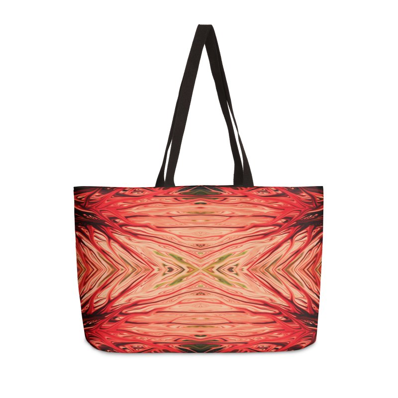 Strawberry Firethorn III by Chris Sparks Accessories Weekender Bag Bag by Chris Sparks' Abstract Art Shop