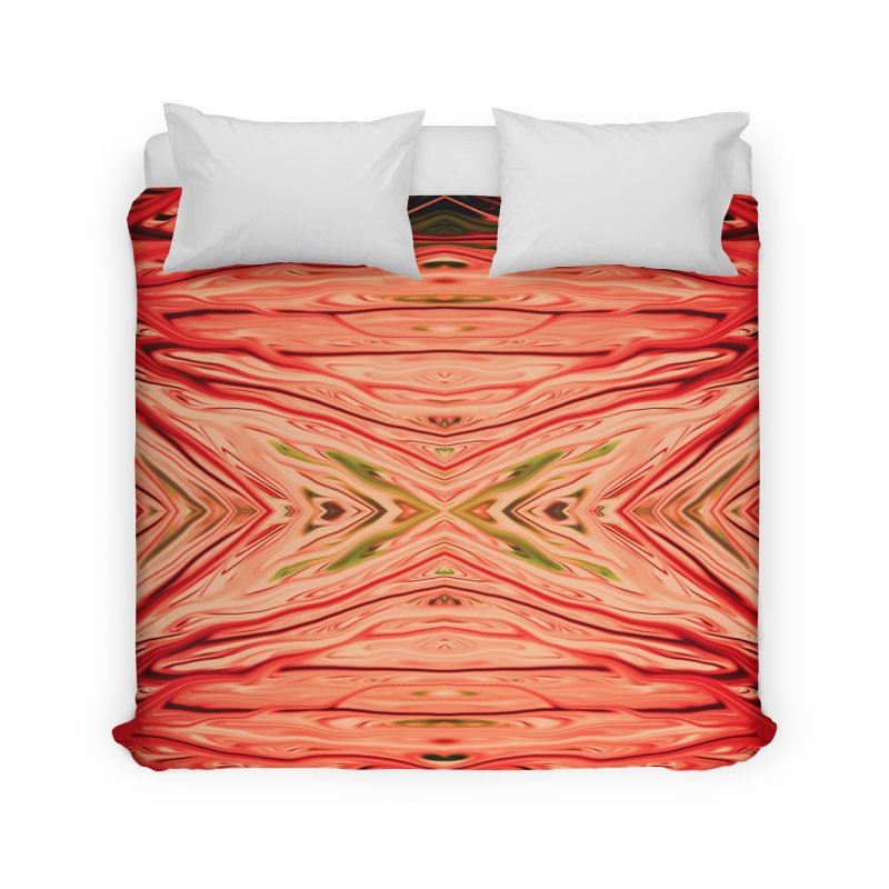 Strawberry Firethorn III by Chris Sparks Home Duvet by Chris Sparks' Abstract Art Shop