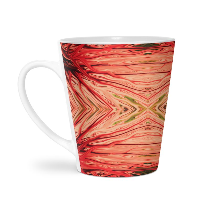 Strawberry Firethorn III by Chris Sparks Accessories Latte Mug by Chris Sparks' Abstract Art Shop
