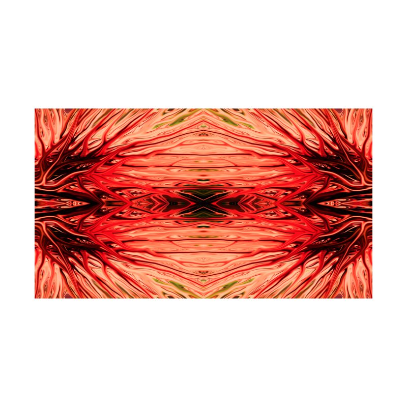 Strawberry Firethorn IV by Chris Sparks Home Mounted Aluminum Print by Chris Sparks' Abstract Art Shop