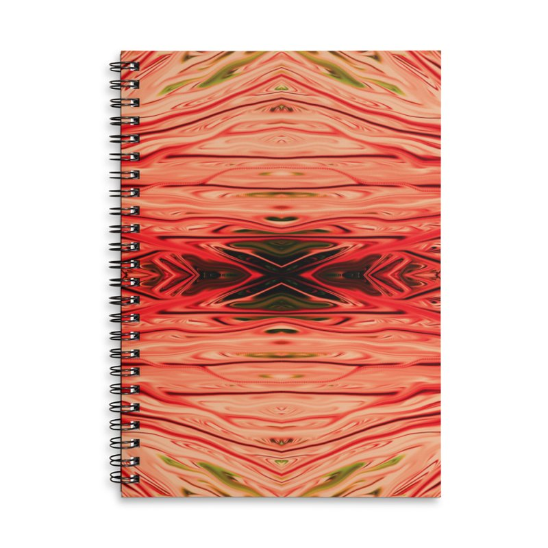 Strawberry Firethorn IV by Chris Sparks Accessories Lined Spiral Notebook by Chris Sparks' Abstract Art Shop