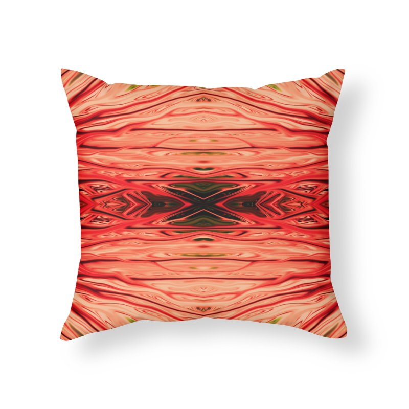 Strawberry Firethorn IV by Chris Sparks Home Throw Pillow by Chris Sparks' Abstract Art Shop