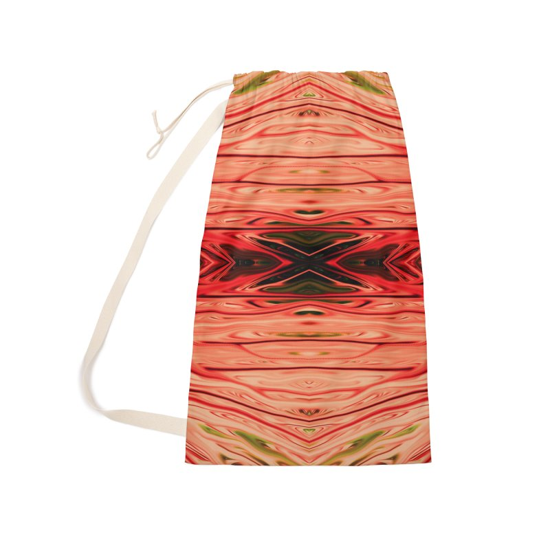 Strawberry Firethorn IV by Chris Sparks Accessories Laundry Bag Bag by Chris Sparks' Abstract Art Shop