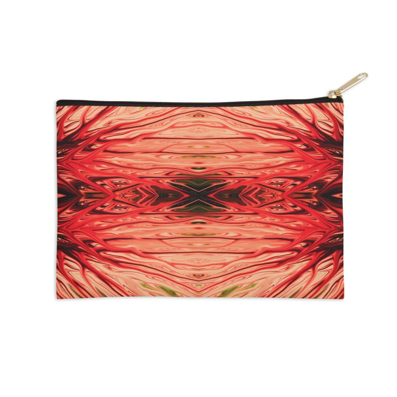 Strawberry Firethorn IV by Chris Sparks Accessories Zip Pouch by Chris Sparks' Abstract Art Shop