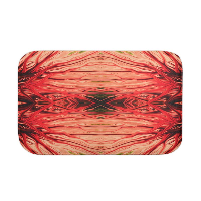 Strawberry Firethorn IV by Chris Sparks Home Bath Mat by Chris Sparks' Abstract Art Shop