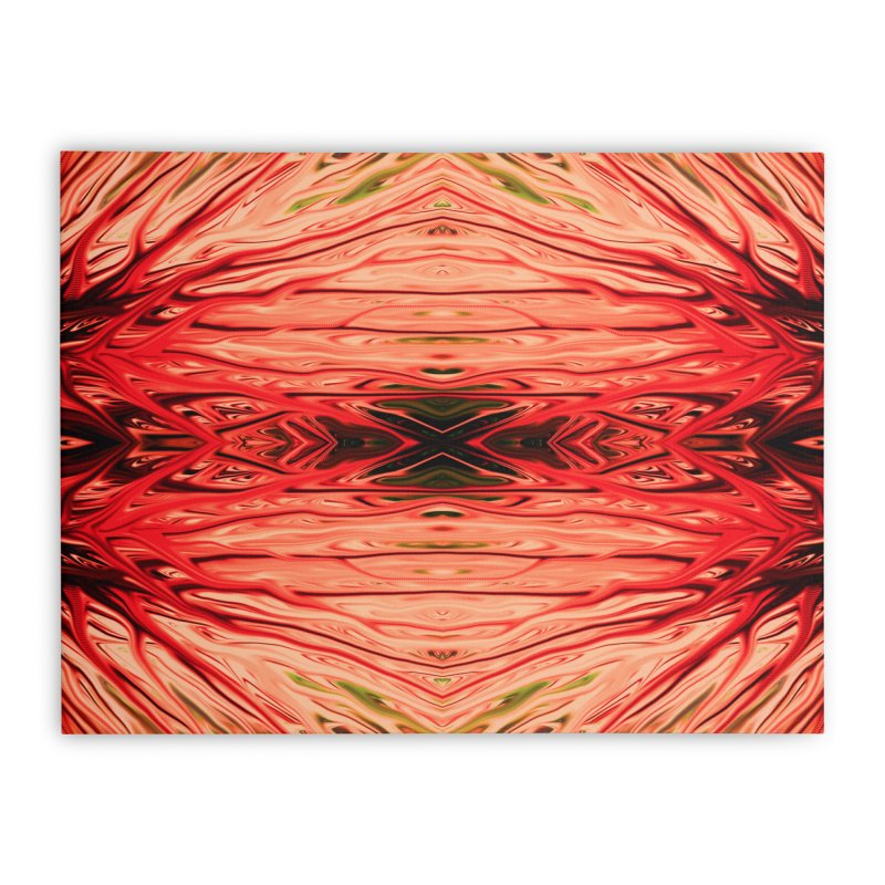 Strawberry Firethorn IV by Chris Sparks Home Stretched Canvas by Chris Sparks' Abstract Art Shop