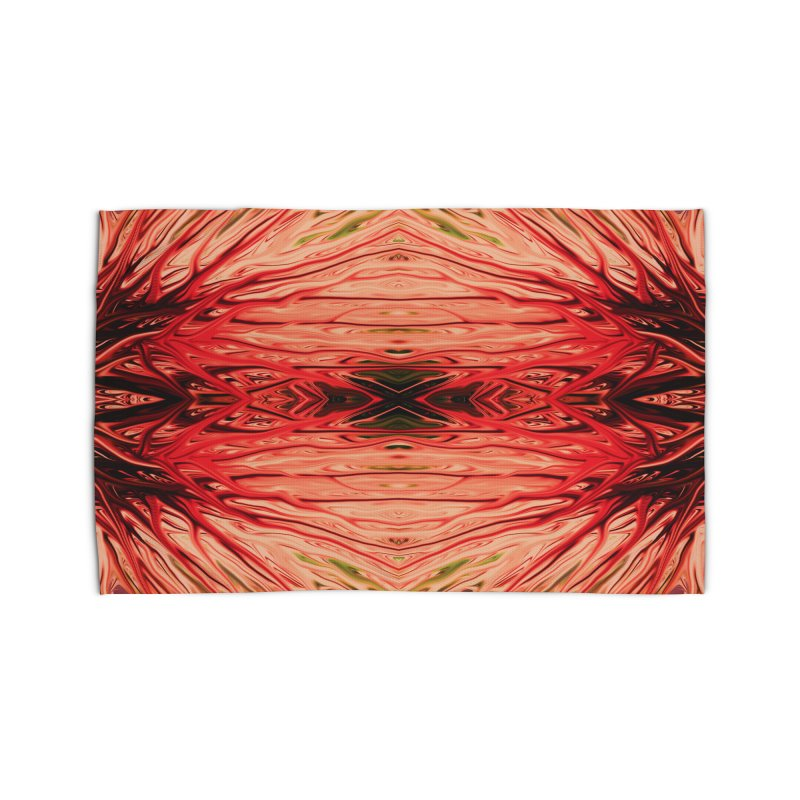 Strawberry Firethorn IV by Chris Sparks Home Rug by Chris Sparks' Abstract Art Shop