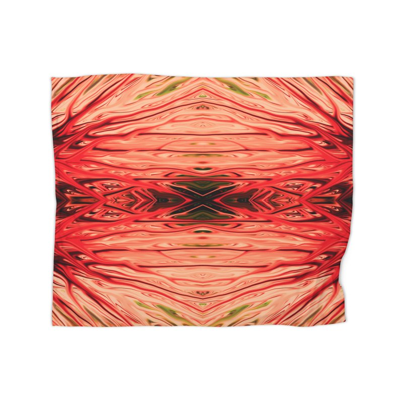 Strawberry Firethorn IV by Chris Sparks Home Fleece Blanket Blanket by Chris Sparks' Abstract Art Shop