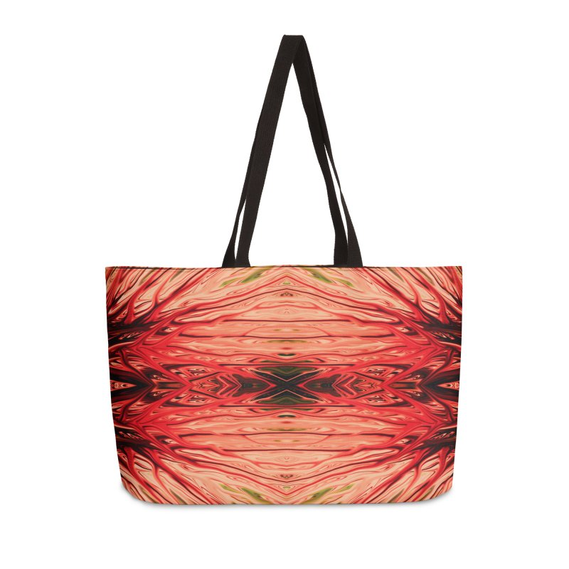 Strawberry Firethorn IV by Chris Sparks Accessories Weekender Bag Bag by Chris Sparks' Abstract Art Shop