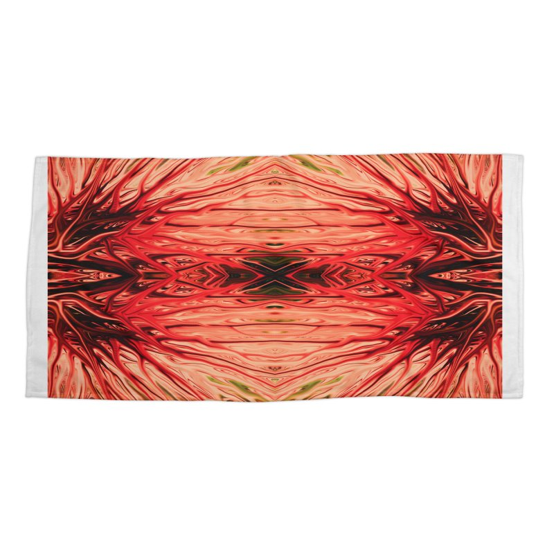 Strawberry Firethorn IV by Chris Sparks Accessories Beach Towel by Chris Sparks' Abstract Art Shop