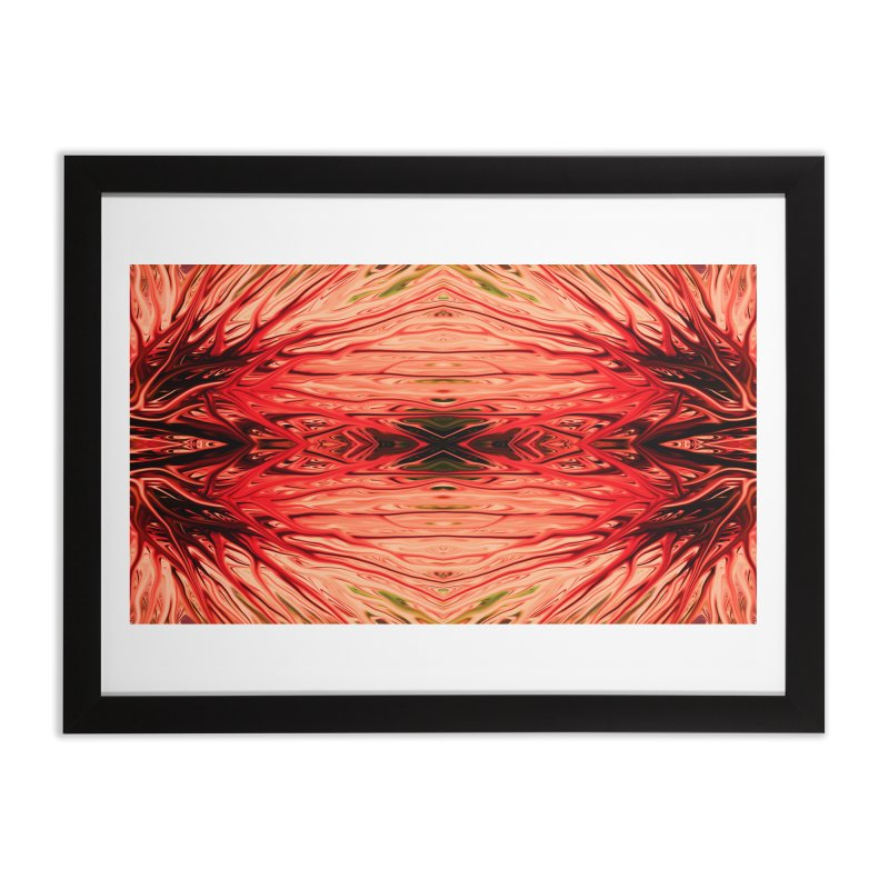 Strawberry Firethorn IV by Chris Sparks Home Framed Fine Art Print by Chris Sparks' Abstract Art Shop