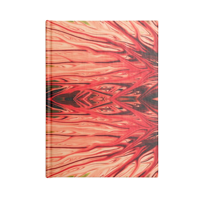 Strawberry Firethorn IV by Chris Sparks Accessories Blank Journal Notebook by Chris Sparks' Abstract Art Shop