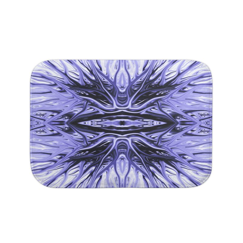 Grape Ice Firethorn I by Chris Sparks Home Bath Mat by Chris Sparks' Abstract Art Shop