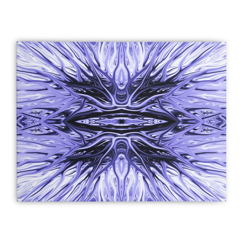 Grape Ice Firethorn I by Chris Sparks Home Stretched Canvas by Chris Sparks' Abstract Art Shop