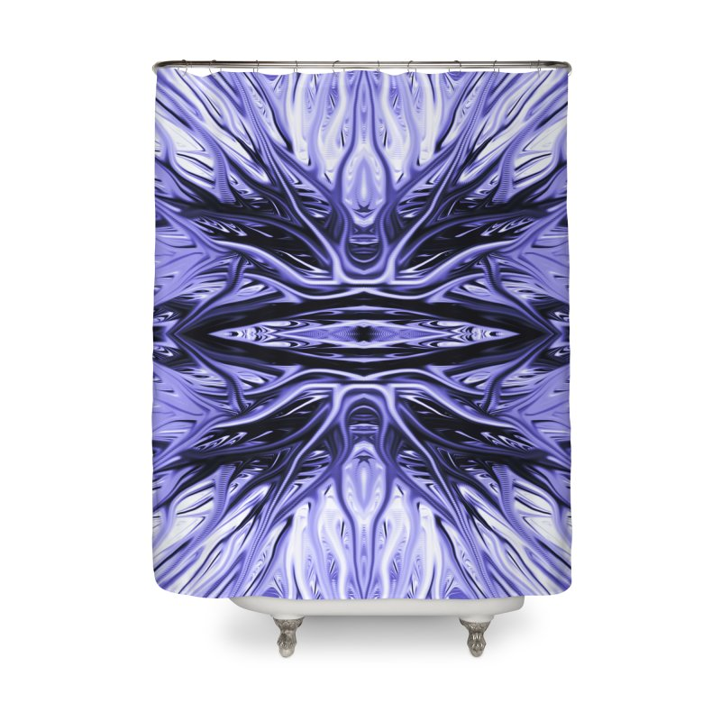 Grape Ice Firethorn I by Chris Sparks Home Shower Curtain by Chris Sparks' Abstract Art Shop