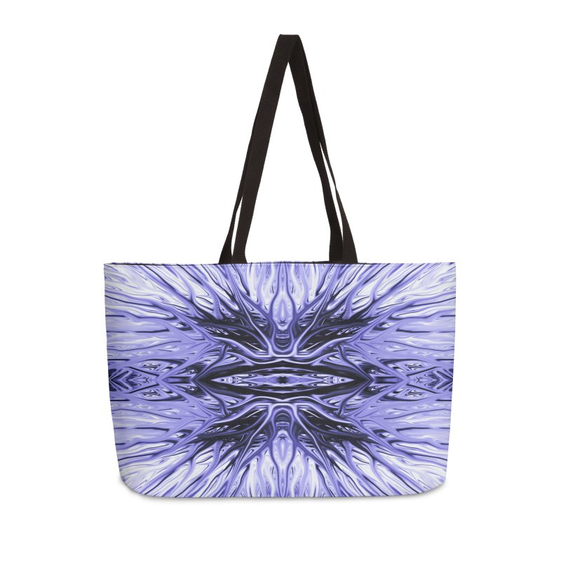 Grape Ice Firethorn I by Chris Sparks Accessories Weekender Bag Bag by Chris Sparks' Abstract Art Shop