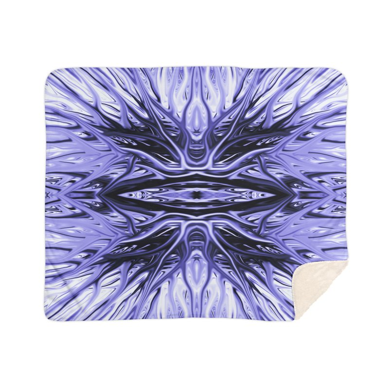Grape Ice Firethorn I by Chris Sparks Home Sherpa Blanket Blanket by Chris Sparks' Abstract Art Shop