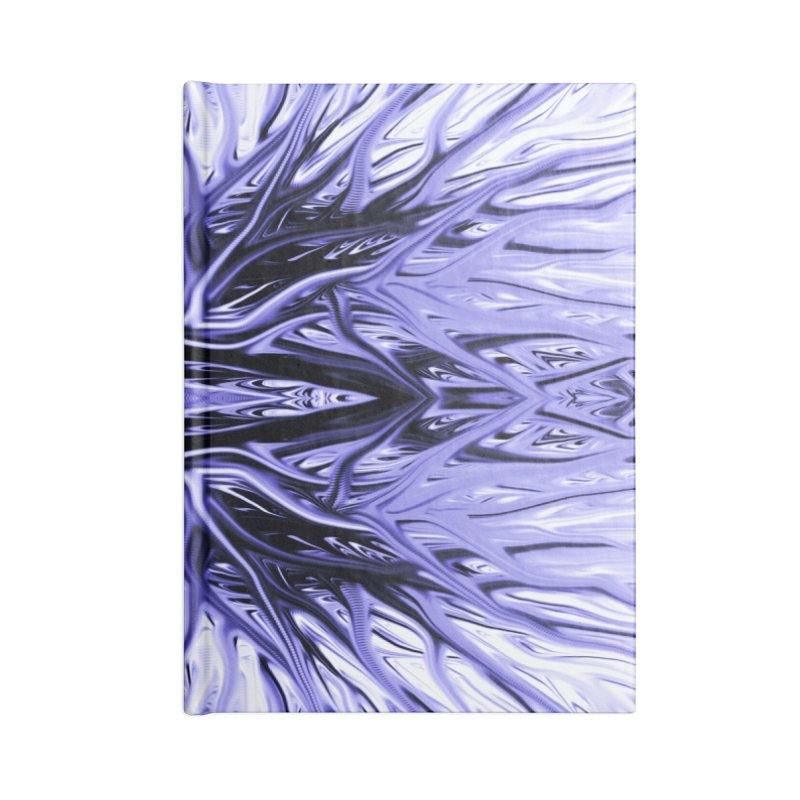 Grape Ice Firethorn I by Chris Sparks Accessories Notebook by Chris Sparks' Abstract Art Shop