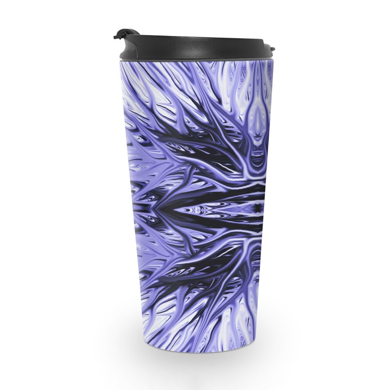Grape Ice Firethorn I by Chris Sparks Accessories Travel Mug by Chris Sparks' Abstract Art Shop