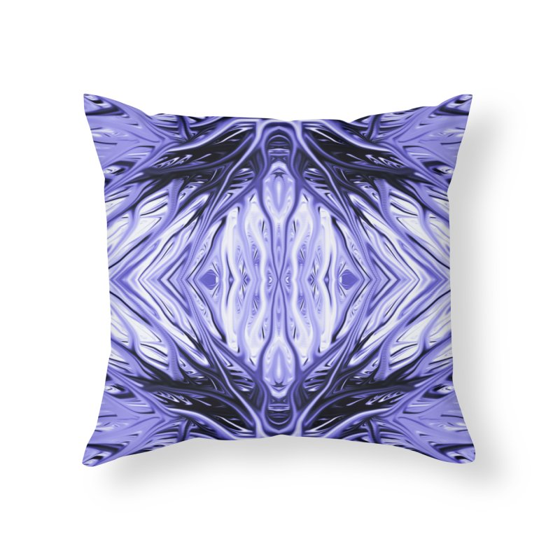 Grape Ice Firethorn II by Chris Sparks Home Throw Pillow by Chris Sparks' Abstract Art Shop