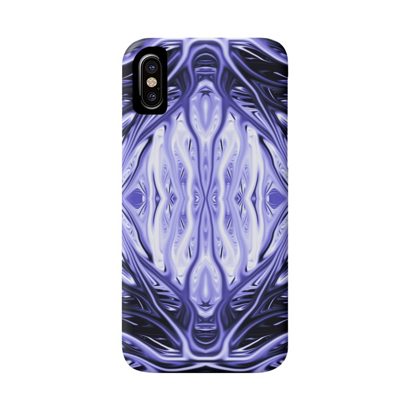 Grape Ice Firethorn II by Chris Sparks Accessories Phone Case by Chris Sparks' Abstract Art Shop