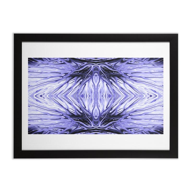 Grape Ice Firethorn II by Chris Sparks Home Framed Fine Art Print by Chris Sparks' Abstract Art Shop