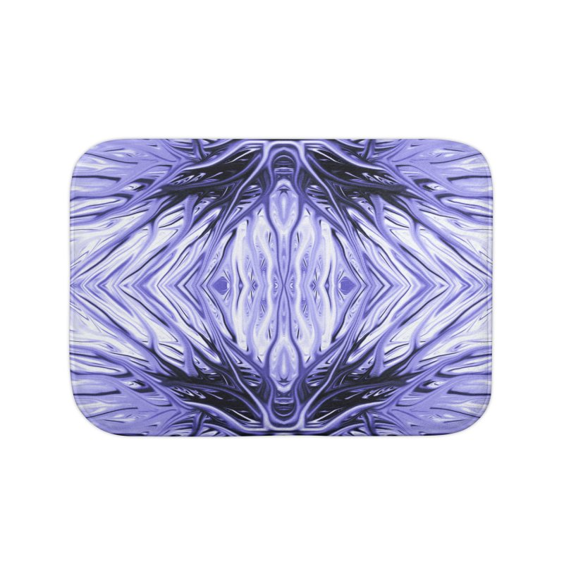 Grape Ice Firethorn II by Chris Sparks Home Bath Mat by Chris Sparks' Abstract Art Shop