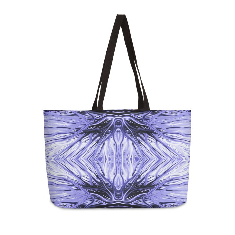 Grape Ice Firethorn II by Chris Sparks Accessories Weekender Bag Bag by Chris Sparks' Abstract Art Shop