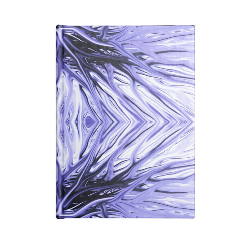 Grape Ice Firethorn II by Chris Sparks Accessories Lined Journal Notebook by Chris Sparks' Abstract Art Shop