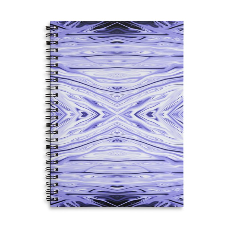 Grape Ice Firethorn III by Chris Sparks Accessories Lined Spiral Notebook by Chris Sparks' Abstract Art Shop
