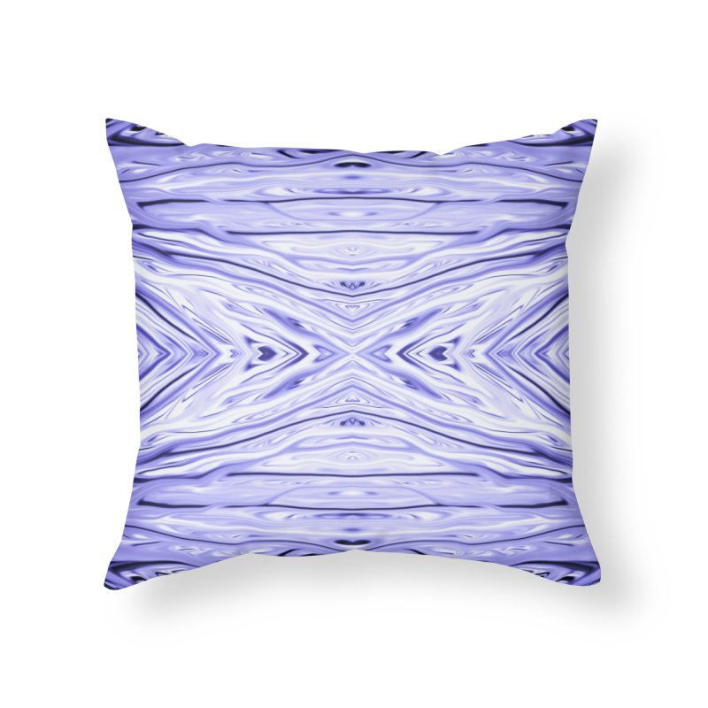 Grape Ice Firethorn III by Chris Sparks Home Throw Pillow by Chris Sparks' Abstract Art Shop